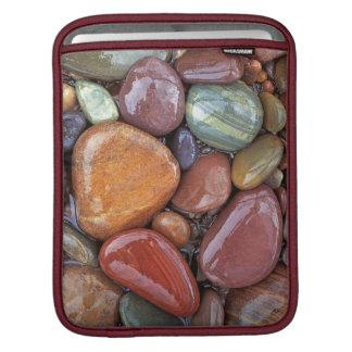 USA, Montana, Clark Fork River, Stones 2 iPad Sleeve