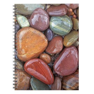 USA, Montana, Clark Fork River, Stones 2 Spiral Notebook