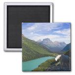 USA, Montana, Glacier National Park, Mountain Square Magnet