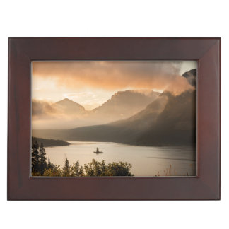 USA, Montana, Glacier National Park. Sunrise Keepsake Box