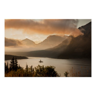 USA, Montana, Glacier National Park. Sunrise Poster