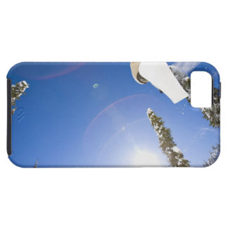 USA, Montana, Whitefish, Young man snowboarding iPhone 5 Case
