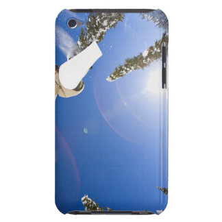 USA, Montana, Whitefish, Young man snowboarding iPod Touch Case