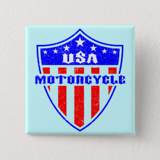 USA Motorcycle 15 Cm Square Badge