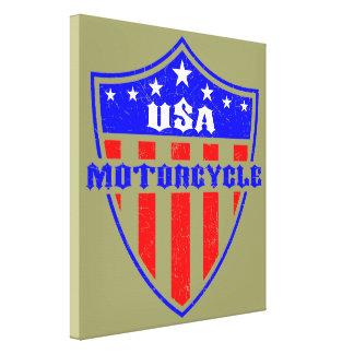 USA Motorcycle Canvas Prints