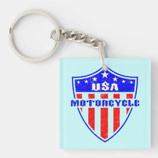 USA Motorcycle Keychain