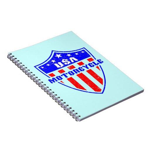 USA Motorcycle Notebooks