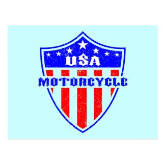 USA Motorcycle Postcard