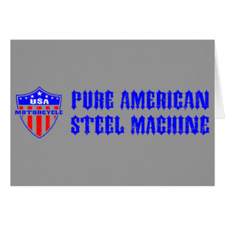 USA Motorcycle Steel Machine Card