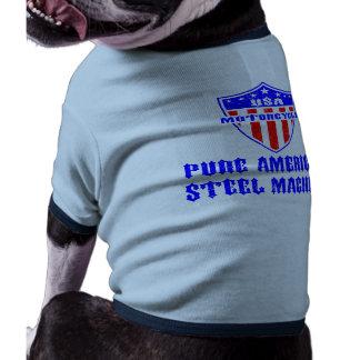 USA Motorcycle Steel Machine Doggie T-shirt