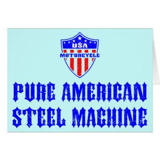 USA Motorcycle Steel Machine Greeting Card