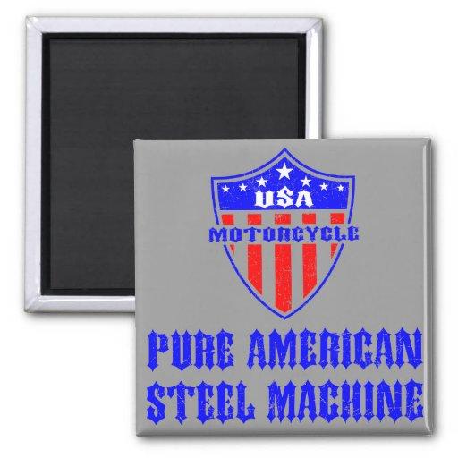 USA Motorcycle Steel Machine Refrigerator Magnet