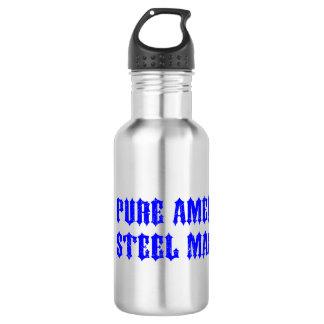 USA Motorcycle Steel Machine 18oz Water Bottle