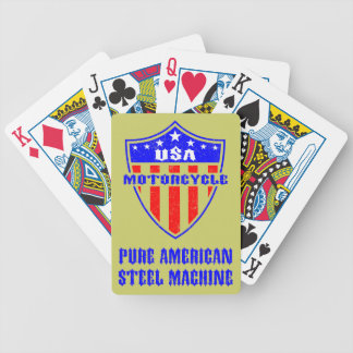 USA Motorcycle Steel Machine Bicycle Poker Cards