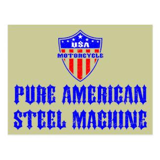 USA Motorcycle Steel Machine Postcard