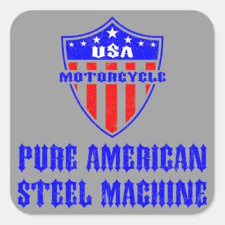 USA Motorcycle Steel Machine Sticker