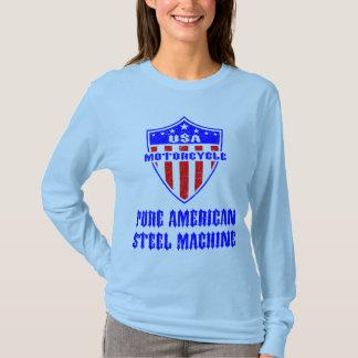 USA Motorcycle Steel Machine T-Shirt