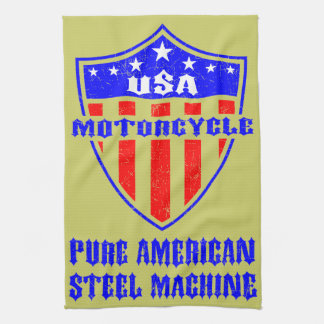 USA Motorcycle Steel Machine Towels