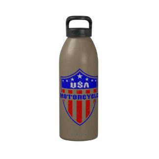 USA Motorcycle Reusable Water Bottle