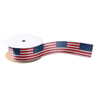 USA national flag Satin Ribbon