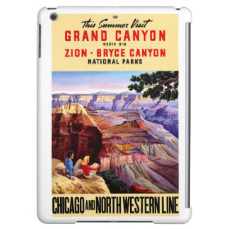 USA National Parks Vintage Poster Restored iPad Air Cover