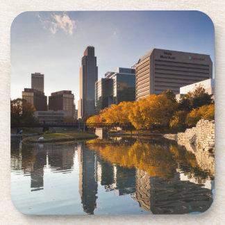 USA, Nebraska, Omaha, Gene Leahy Mall, Skyline Coaster