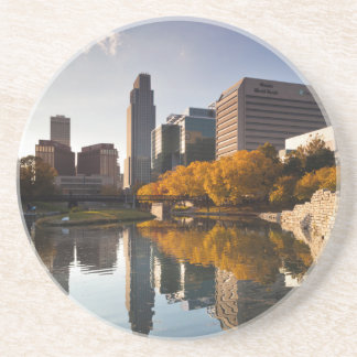 USA, Nebraska, Omaha, Gene Leahy Mall, Skyline Coaster