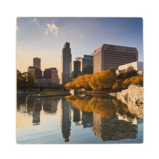 USA, Nebraska, Omaha, Gene Leahy Mall, Skyline Wood Coaster