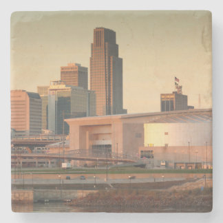 USA, Nebraska, Omaha, Skyline Stone Beverage Coaster