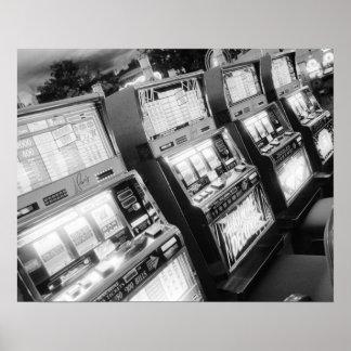 USA Nevada Las Vegas Casino Slot Machines Print
