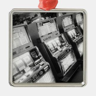 USA, Nevada, Las Vegas: Casino Slot Machines / Silver-Colored Square Decoration
