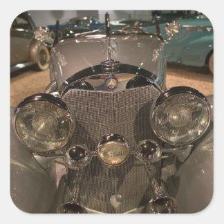USA, Nevada_Reno: National Automobile Museum 2 Square Sticker