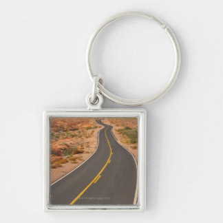 USA, Nevada, Valley of Fire, desert road Key Ring