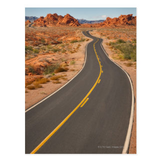 USA, Nevada, Valley of Fire, desert road Postcard