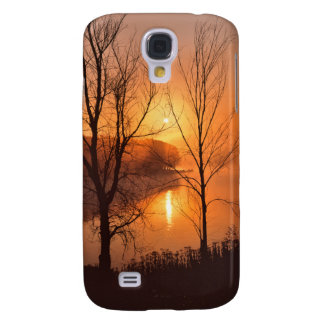 USA, New England, Maine. Autumn Sunrise Galaxy S4 Case
