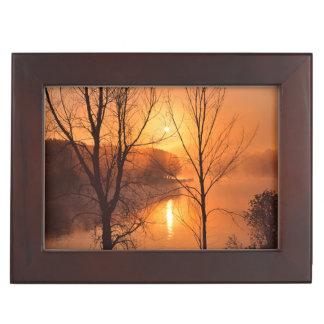 USA, New England, Maine. Autumn Sunrise Keepsake Box