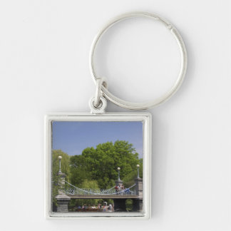 USA, New England, Massachusetts, Boston, 2 Silver-Colored Square Key Ring