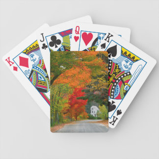 USA, New England, New Hampshire, Andover Bicycle Card Deck