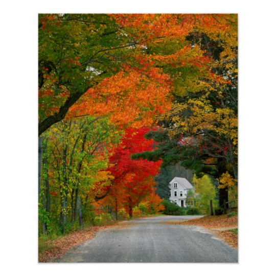 USA, New England, New Hampshire, Andover Poster