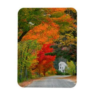 USA, New England, New Hampshire, Andover Rectangular Photo Magnet