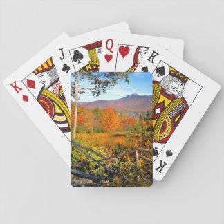USA, New England, New Hampshire, Chocorua Deck Of Cards