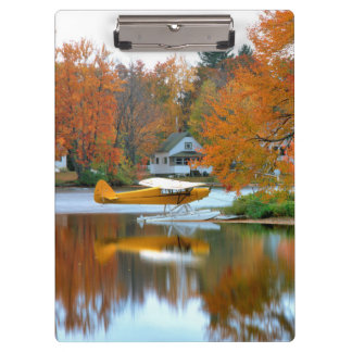 USA, New England, New Hampshire. Float Plane Clipboard