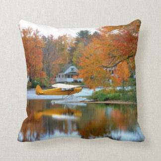 USA, New England, New Hampshire. Float Plane Cushion
