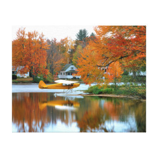 USA, New England, New Hampshire. Float Plane Gallery Wrap Canvas