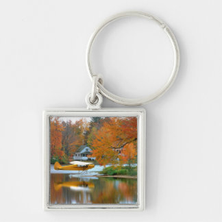 USA, New England, New Hampshire. Float Plane Key Ring