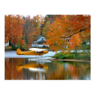 USA, New England, New Hampshire. Float Plane Postcard