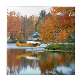 USA, New England, New Hampshire. Float Plane Tile