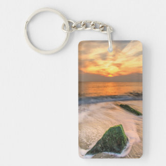 USA, New Jersey, Cape May. Scenic On Cape May 2 Double-Sided Rectangular Acrylic Key Ring