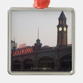 USA, New Jersey, Hoboken, old train station Christmas Ornament