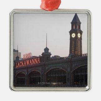 USA, New Jersey, Hoboken, old train station Christmas Ornament